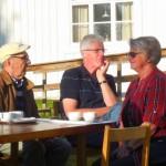 Lennart, Bengt och Illone njuter