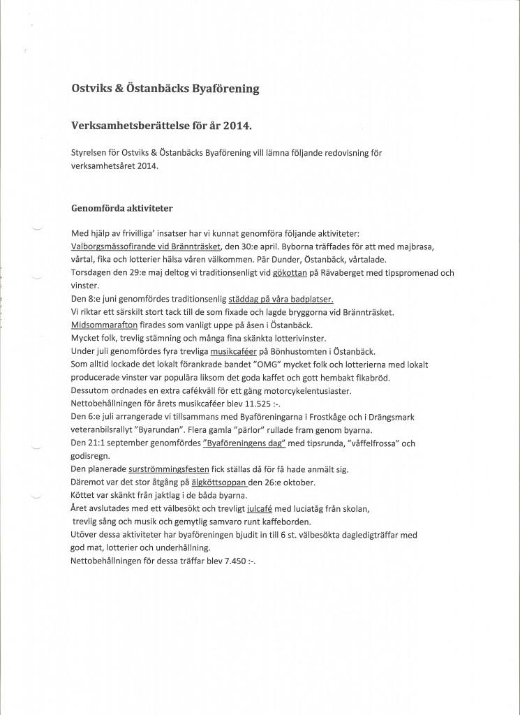 Verksamhetsberättelse 2014 001