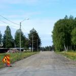 Nu är mycket av asfalten borttagen.