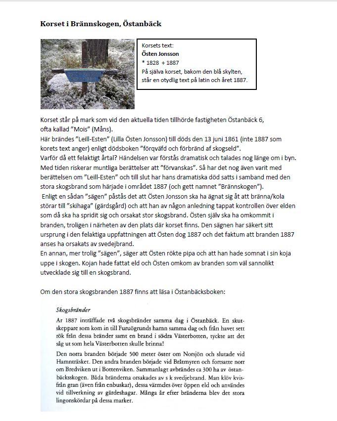 korset på Brännskogen - text